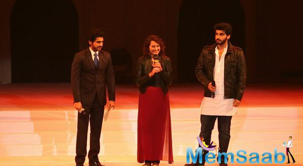 Sonakshi And Arjun At 5th Annual Kabaddi World Cup For Promote Their New Movie