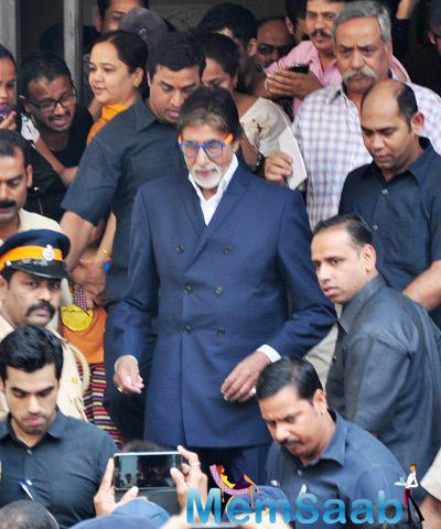 Amitabh Bachchan Spotted At MTNL Building To Inaugurate Dadasaheb Phalke Painting