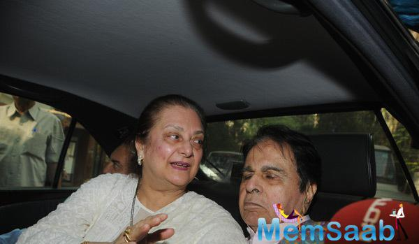Dilip Kumar Spotted Returning Home With Wife Saira Banu From Lilavati Hospital On His 92nd Birthday