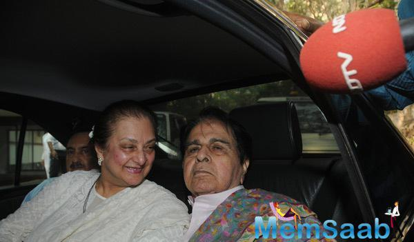 Dilip Kumar Wife Saira Banu Felt Very Happy To See Him Out Of Hospital