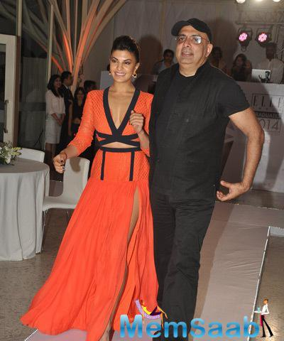 Jacqueline Fernandez Looked Gorgeous In Orange Atsu Gown
