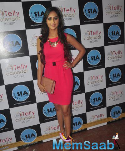 Krystle D'Souza Nice Look During The Announcement Of Telly Calendar 2015 Girls