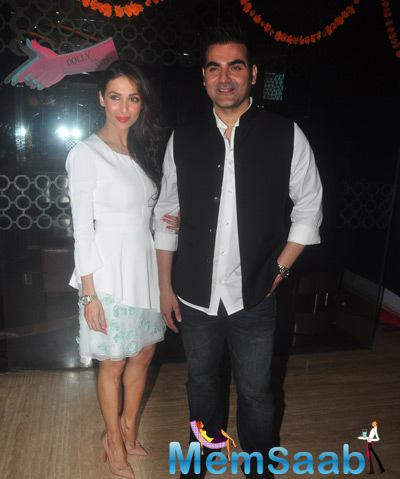 Malaika Arora Khan And Hubby Arbaaz Khan Posed At The Trailer Launch Of Dolly Ki Doli