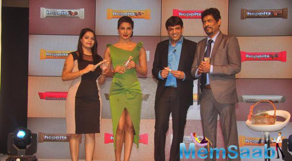 Priyanka With Rajhans Nutriments Team At It's Chocolate Launch Event