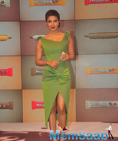Priyanka Spotted At The Launch Of Rajhans Nutriments Hoppit Chocolate In Mumbai