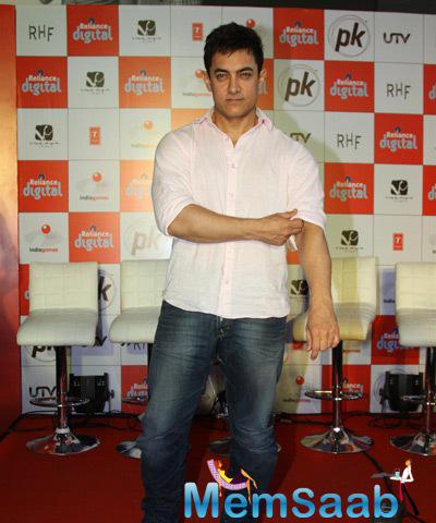 Aamir Khan With Dashing Look Spotted At PK Mobile Game Launch Event