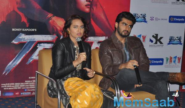 Arjun And Sonakshi Interacts With Media During Tevar Promotion In Jaipur