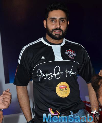 Abhishek Bachchan Cool Look During Barclays Premiere League 2014