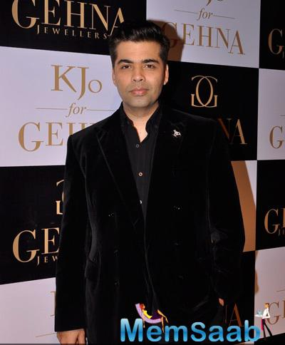 Handsome Karan Johar Unveiled His Collections With Gehna Jewellers