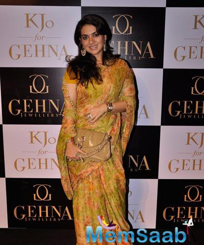 Shaina NC Cool Pose At Gehna Jewellers Collection Showcase By Karan Johar