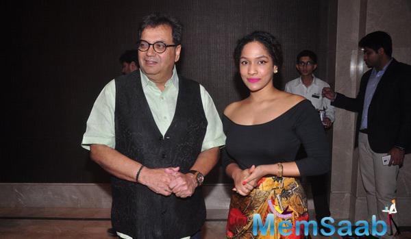 Fashion Designer Masaba And Subhash Ghai Clicked During Pride Of India Awards