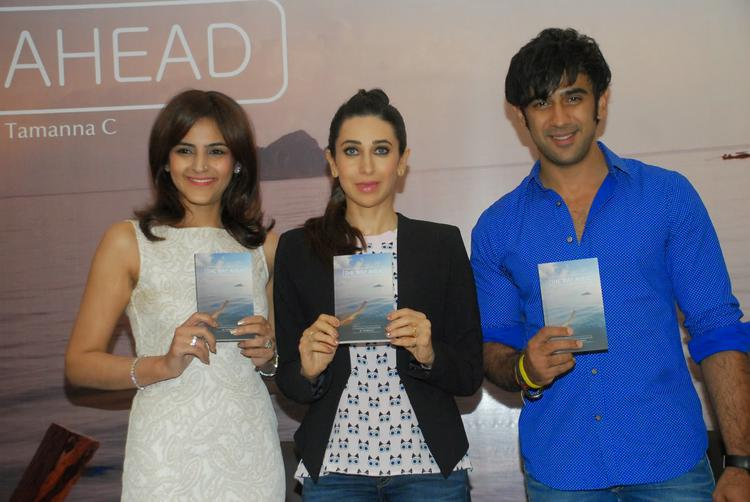 Karisma Kapoor And Amit Sadh Strike A Pose During The Launch Of Book The Way Ahead