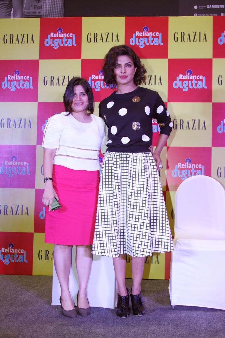 Priyanka Chopra Launches Grazia Magazine Cover December Issue