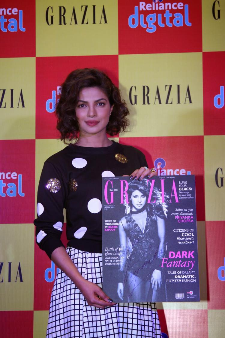 Priyanka Chopra Unveiled Grazia Magazine New Issue Cover