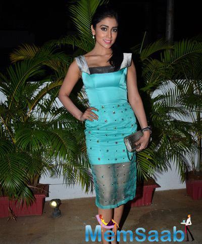 Shriya Saran Looked Lovely In Designer Rajat Tangri Dress