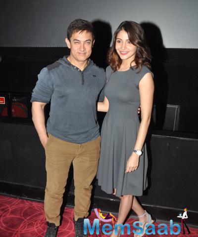 Aamir Khan And Anushka Sharma At PK Special Screening For Mumbai Police