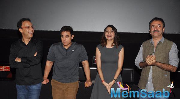PK Team Enjoy Their Movie Special Screening Held For Mumbai Police