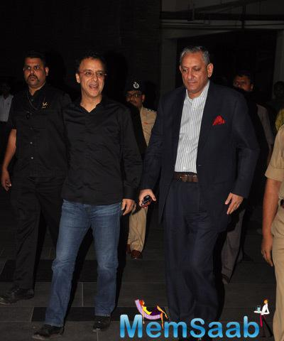 Vidhu Vinod Chopra Attend The Special Screening Of PK Held For Mumbai Police