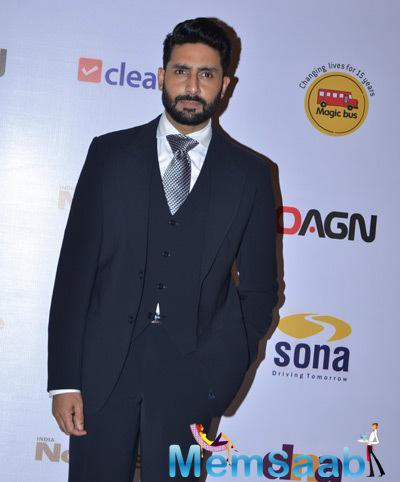 Abhishek Bachchan Dashing Look During Magic Bus Charity Dinner 2014