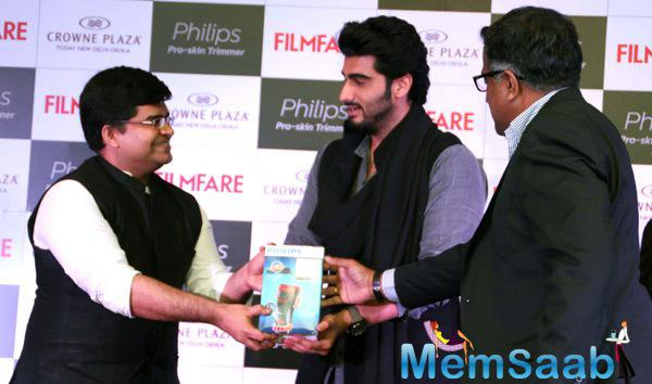 Arjun Kapoor During The Cover Launch Of Filmfare Magazine