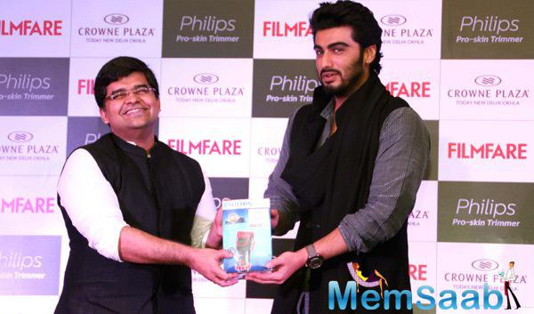 Jitesh Pillaai Editor Of Filmfare And Arjun Kapoor Launch The Latest Issue Of Filmfare Magazine