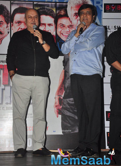 Anupam Kher Interacting With Media At Dirty Politics Promotional Event