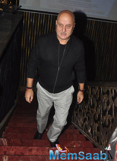 Anupam Kher Snapped At The Promotional Event Of Dirty Politics