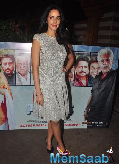 Mallika Sherawat Strikes A Pose During The Dirty Politics Film Promotion