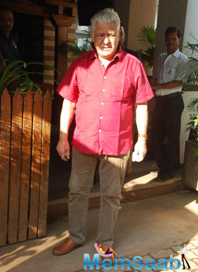 Om Puri Spotted To Attend Dirty Politics Film Promotion