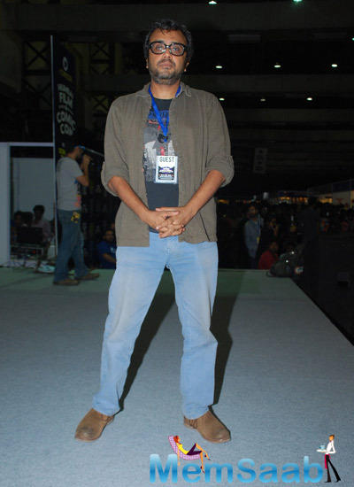 Dibakar Banerjee At The Comic Con For Promoting Detective Byomkesh Bakshy