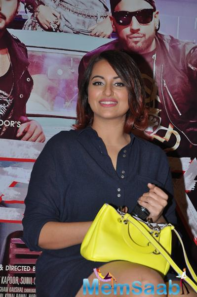 Sonakshi Sinha Looked Adorable During The Promotion Of Tevar Movie At Chandigarh