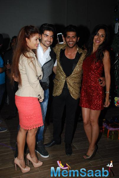 Debina Bonnerjee And Hubby Gurmeet Choudhary,Karanvir Bohra And Wife Teejay Sidhu Clicked At Karanveer Bohra House Warming Party