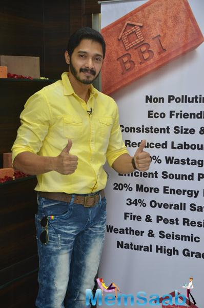 Shreyas Talpade Strikes A Pose During The Launch Of Building Bricks Store