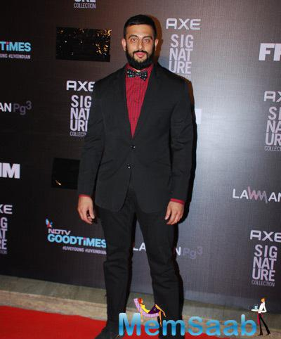 Arunoday Singh Present At Axe Signature And FHM Bachelor Of The Year 2014 Awards