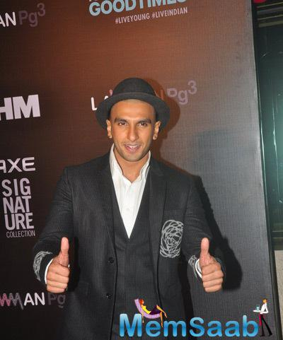 Ranveer Singh Win FHM Bachelor Of The Year Trophy