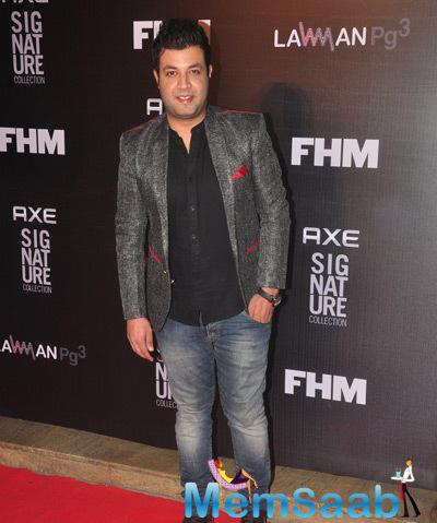 Varun Sharma Posed During Axe Signature And FHM Bachelor Of The Year 2014 Awards