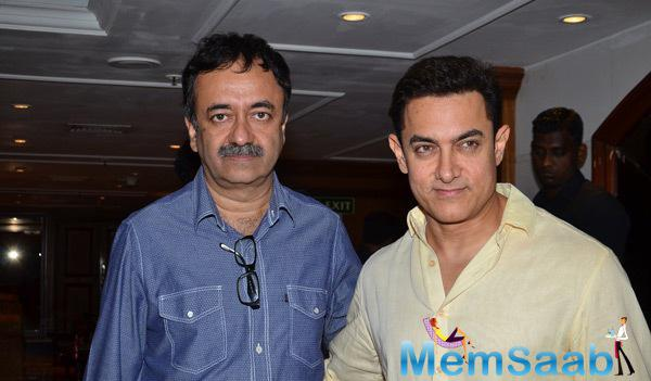 Rajkumar Hirani And Aamir Khan Strike A Pose For Shutterbugs At PK Contest Winners Meet