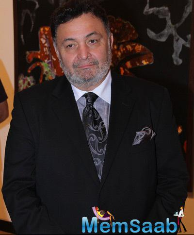 Rishi Kapoor Spotted At An Cololurful Crossing Art Exhibition