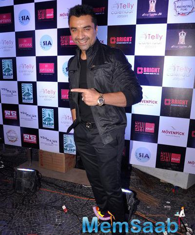 Ajaz Khan During The Launch Of Telly Calender 2014