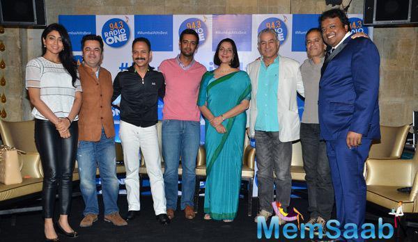 Shriya Saran,Mickey Mehta,Rehan Poncha,Meera Sanyal,Dalip Tahil And Others Clicked At 94.3 Radio Station CSR Campaign