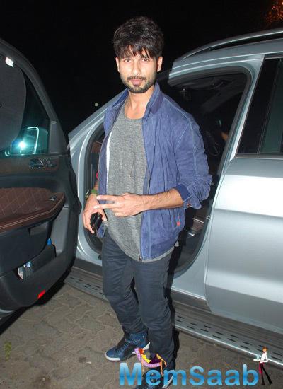 Handsome Hunk Shahid Arrives At Jackky Bhagnani Birthday Bash