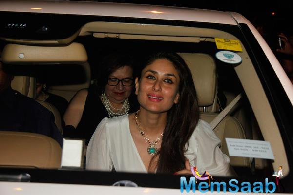 Kareena Kapoor Arrives At St Andrews Church For Midnight Mass
