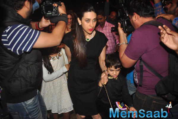 Karisma Attends Midnight Mass With Mom And Kids