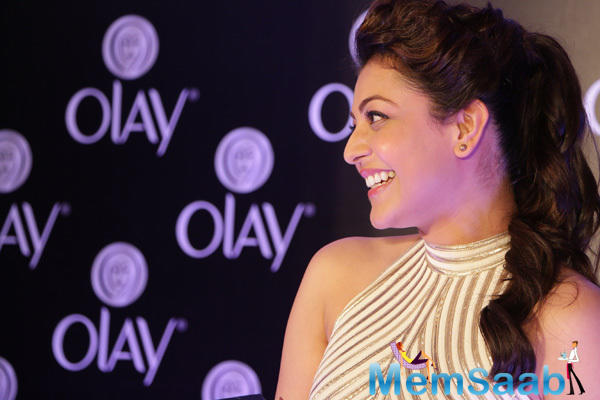 Kajal Aggarwal Promoted Olay Total Effects Product