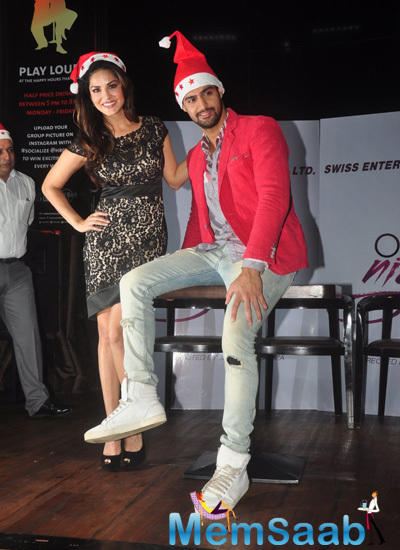 Sunny Leone And Tanuj Virwani Cool Pose During One Night Stand Promotional Event