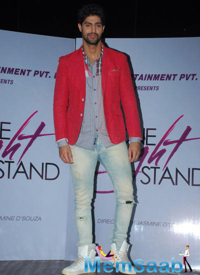 Tanuj Virwani Strike A Pose For Shutterbugs During Promotional Event Of One Night Stand With Christmas
