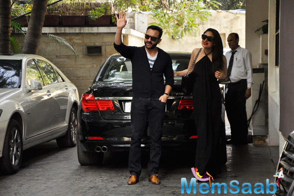 Kareena Kapoor Khan And Saif Ali Khan Arrives At Shashi Kapoor Christmas Brunch Party