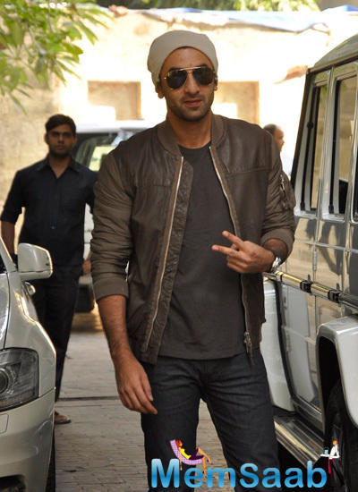 Ranbir Kapoor Poses For Camera At Christmas Party