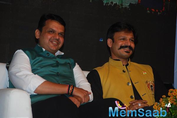 Devendra Fadnavis And Vivek Oberoi Graced At 90th Birthday Of Atal Bihari Vajpayee
