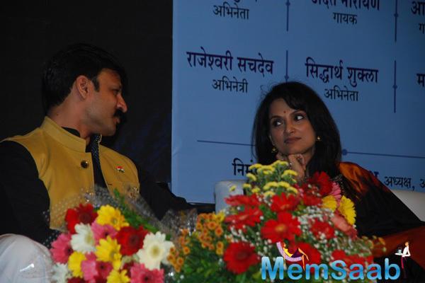 Vivek Oberoi And Rajeshwari Sachdev During The 90th Birthday Of Atal Bihari Vajpayee